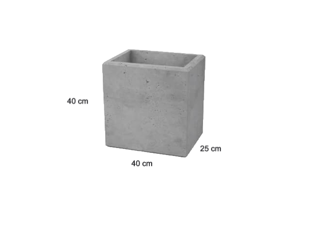 Betonmauer Steinblock EASY aus Architekturbeton 400x250x400 mm (B/L/H)