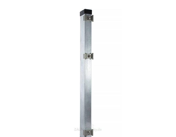 Doppelstabmatten-Pfosten PREMIUM 60/40 mm  mit Mattenhaltern