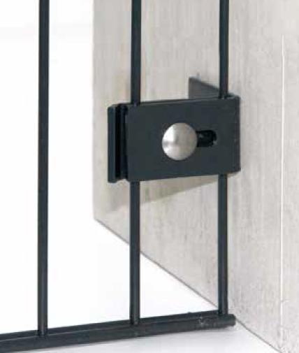 Montagewinkel 65/45 - Doppelstabmatte am Mauerwerk anschrauben (5 Stk. Set)