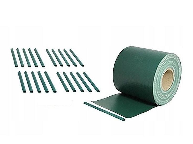 PVC Sichtschutzstreifen 35 laufende Meter Rolle Moosgrün