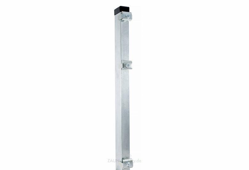 Doppelstabmatten-Pfosten PREMIUM 60/40 mm  mit Stahlhaltern SPORT