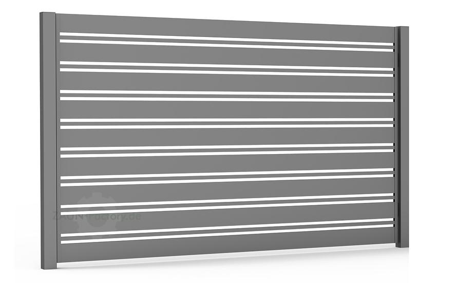 Zaunfeld SPLENDID – moderner Zaun mit dezenter Sichtschutzfunktion
