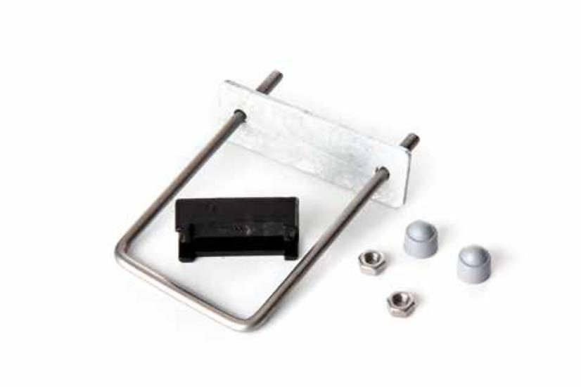 Bügelschelle aus Edelstahl für Pfosten aus Quadratrohr 60x60 mm (5 Stk. Set)