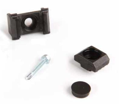 Reparatur-Mattenhalter ECO für Zaunpfosten  - nachträgliche Montage (5 Stk. Set)