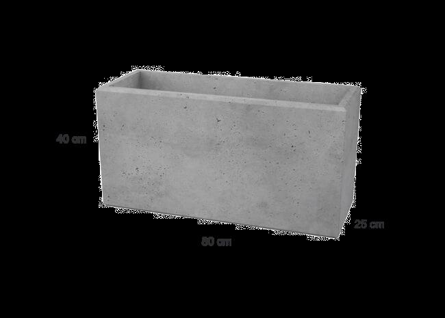 Zaun-Blöcke – Architekturbeton 80x25x40