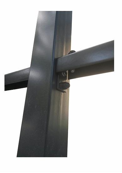 80/80 mm Industrie-Pfosten Wandstärke: 2 mm