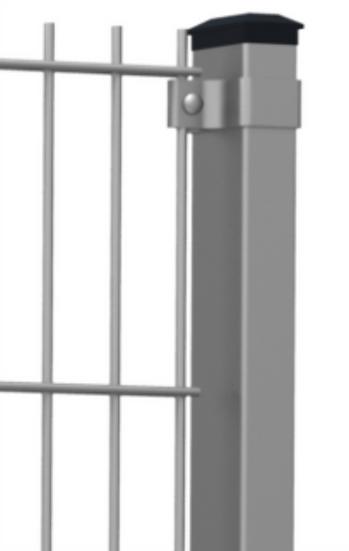 Doppelstabmatten-Pfosten STANDARD 60/40 mm EasyClips