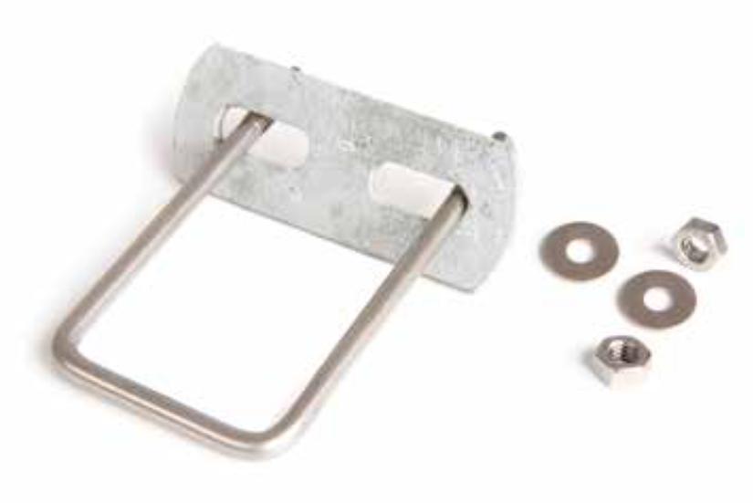 Edelstahlhalter für Doppelstabmattenzaun in U-Form | 60/40 mm Pfosten (5 Stk.)