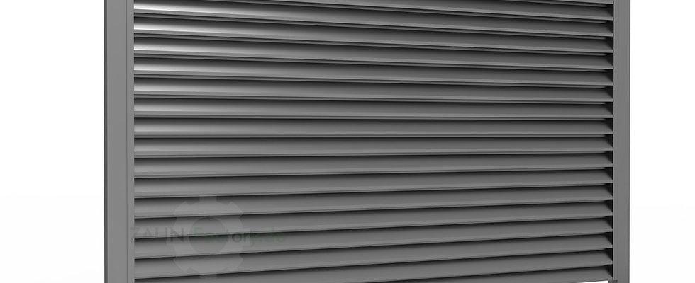 Zaunfeld LOUVER - Sichtschutzzaun mit Jalousieprofil