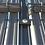 Thumbnail: Metall-Mattenhalter für Doppelstabmatten-Zaunpfosten (5 Stk. Set)