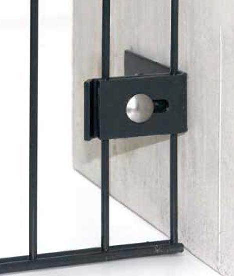 Wandanschlusswinkel 65/100 - Stabmatte an Hauswand befestigen (5 Stk. Set)