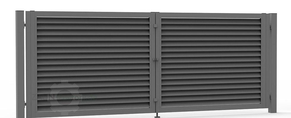 Sichtschutztor LOUVER – Zweiflügeltor nach Maß mit Sichtschutzfunktion