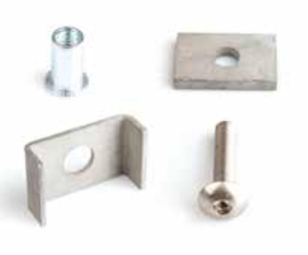 Metall-Mattenhalter für Doppelstabmatten-Zaunpfosten (5 Stk. Set)
