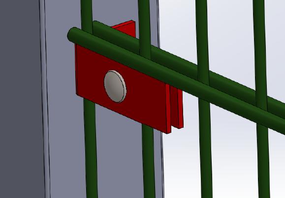 Zaunanschlusswinkel 80/40 - Doppelstabmatte an Pfeiler anbringen (5 Stk. Set)