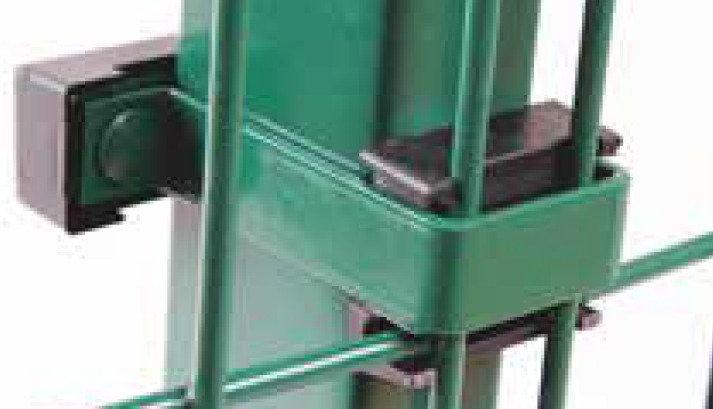 Universeller Stabmattenanschluss  an Pfosten, T-Verbinder 40/60 (5 Stk. Set)