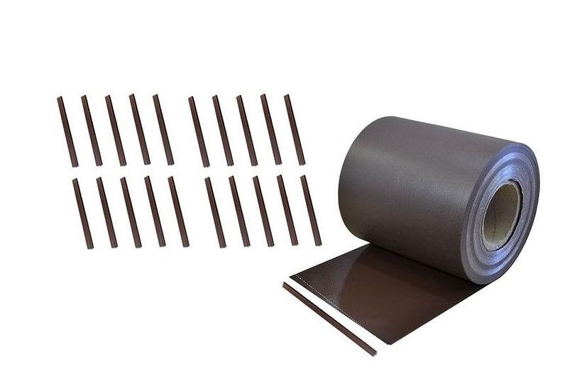 PVC Sichtschutzstreifen 35 laufende Meter Rolle Braun