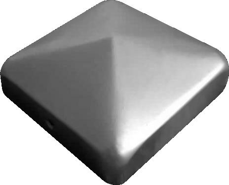 Pfostenkappe für 80/80 mm Zaunpfosten oder Torpfosten aus Metall (30 Stk.)