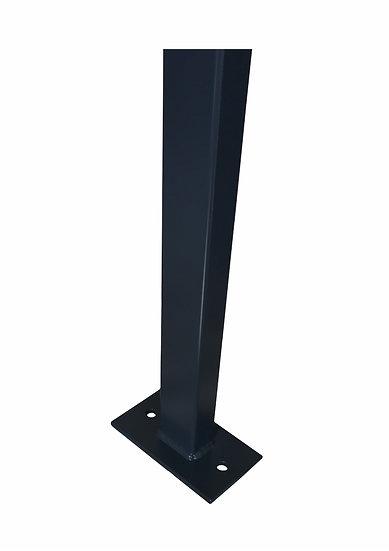 Gitterstabmatten-Pfosten ECONOMY 60/40 mm | Mit Fußplatten