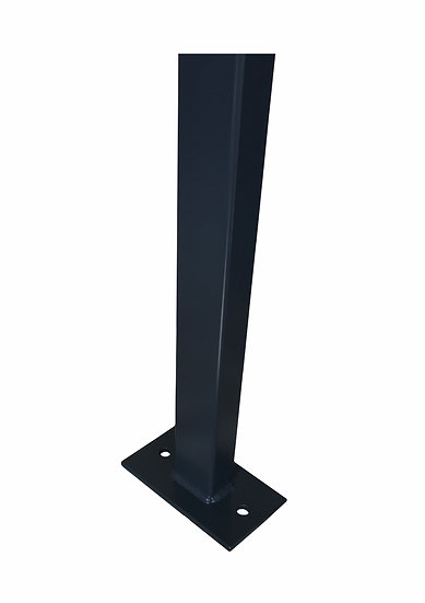 Gitterstabmatten-Pfosten BUDGET 60/40 mm | Mit Fußplatten