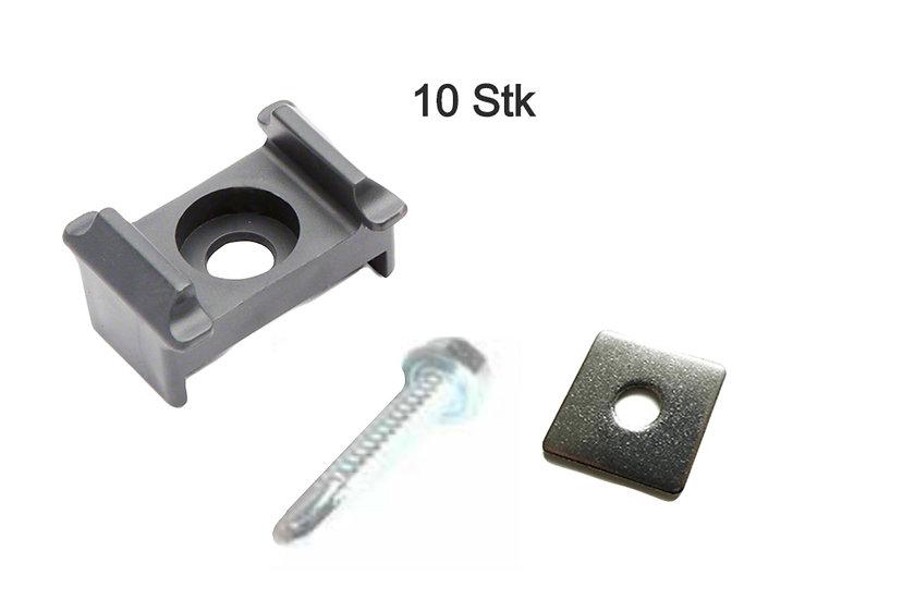 Mattenhalter für Zaunpfosten (selbstschneidende Schraube) 10 Stk