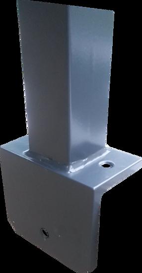 Gitterstabmatten-Pfosten BUDGET 60/40 mm | Mit Fußplatten für L-Steine