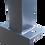 Thumbnail: Pfosten STANDARD 60/40 mm  mit Stahlhaltern SPORT und Fußplatten für L-Steine