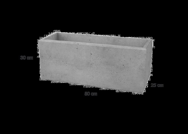 Betonmauer Steinblock EASY aus Architekturbeton 800x250x300 mm (B/L/H)