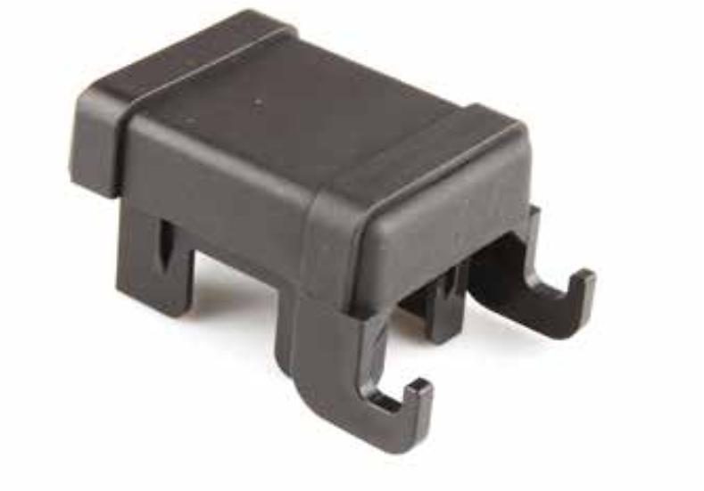 Pfostenkappen mit Stabmattenhaltern für 60/40 mm Pfosten (5 Stk. Set)