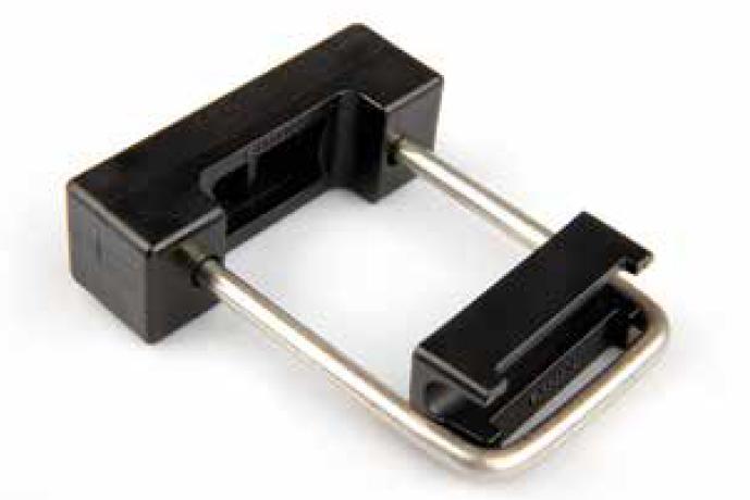 Bügelschellen in U-Form für 60/40 mm Zaunpfosten, Einrastschellenm (5 Stk. Set)