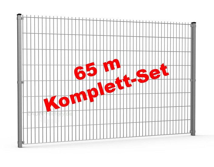 65 lfdm H= 1030 mm Doppelstabmattenzaun STANDARD 6/5/6 Komplett-Set