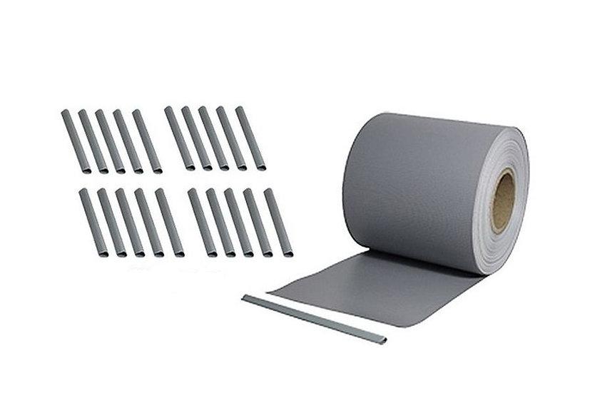 PVC Sichtschutzstreifen 35 laufende Meter Rolle Steingrau