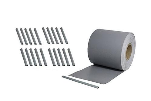 pvc sichtschutzstreifen 35 laufende meter rolle steingrau. Black Bedroom Furniture Sets. Home Design Ideas