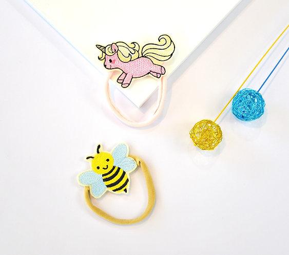 2 Pack Unicorns & Bumblebee Headbands