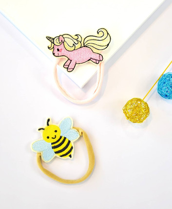 Sveta's Kidswear Bee and Unicorn Hair Accessories