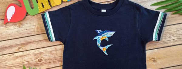 Cool Shark Embroidered T-shirt for Toddler