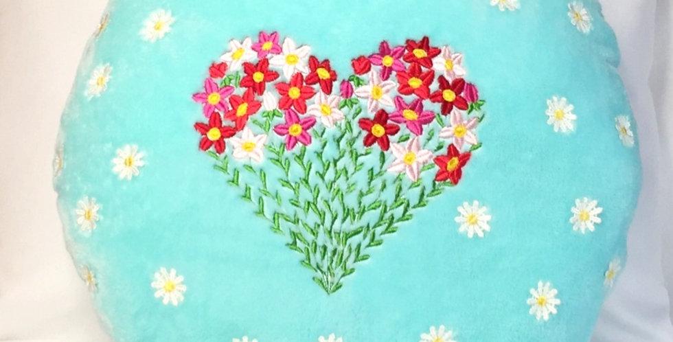 Sveta's Kidswear Floral Heart Round Shaped Pillow.