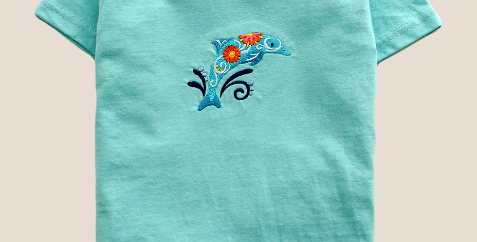 Happy Dolphin Embroidered T-shirt for Toddler