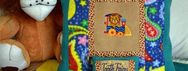 Safari Animals Toddler Blanket with Pillows Set