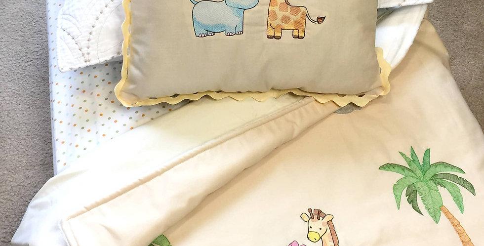 Sveta's Kidswear Safari Animals Baby Blanket with Pillow Set.