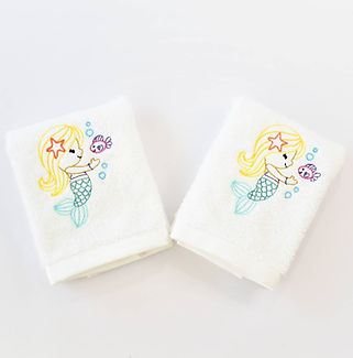 Sveta's Kidswear Mermaid Decorative Washcloth