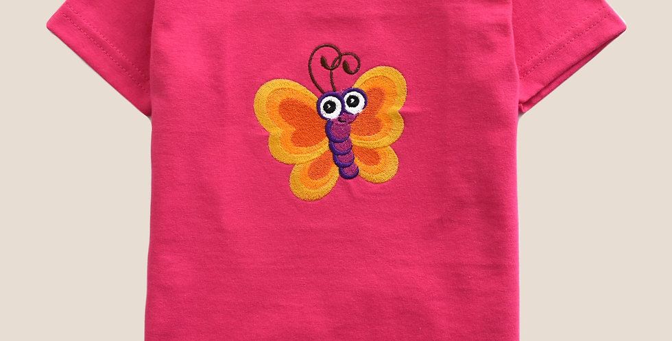 Adorable Butterfly Embroidered T-shirt for Baby