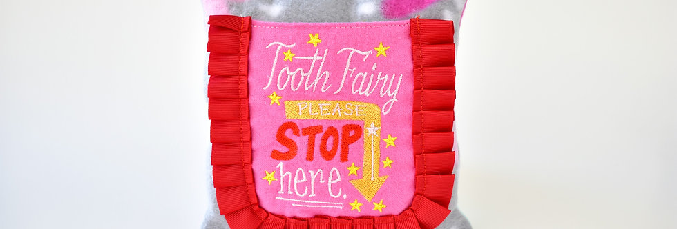 Lady Red Tooth Fairy Pillow