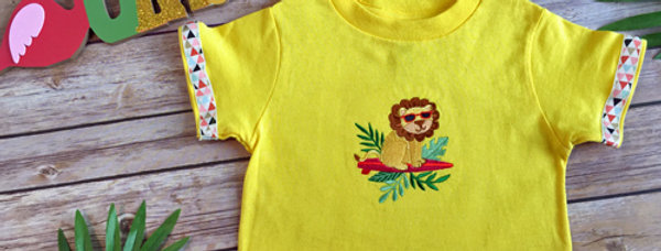 Safari Lion Embroidered T-shirt for Toddler