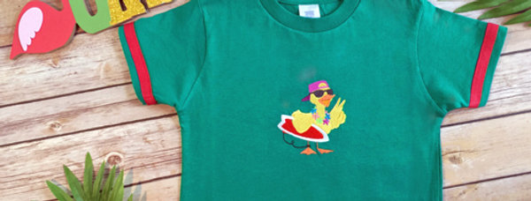 Beach Ducky Embroidered T-shirt for Toddler