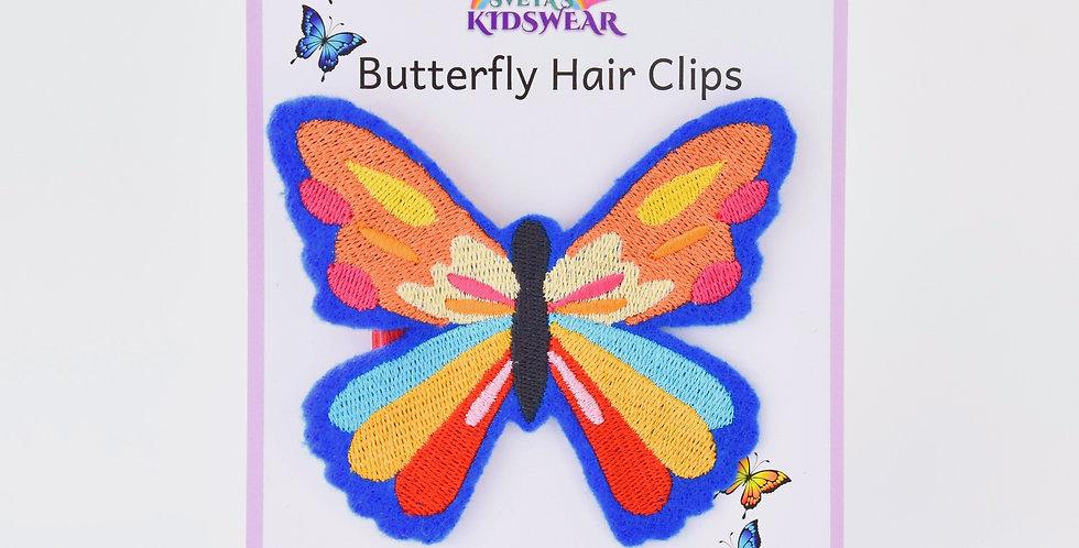 Rainbow Butterfly Hair Clip