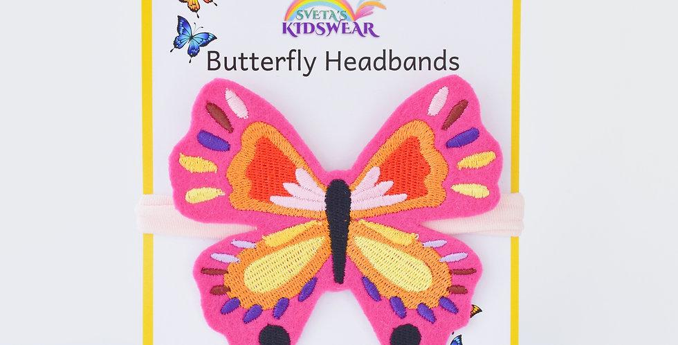 Vibrant Butterfly Headband