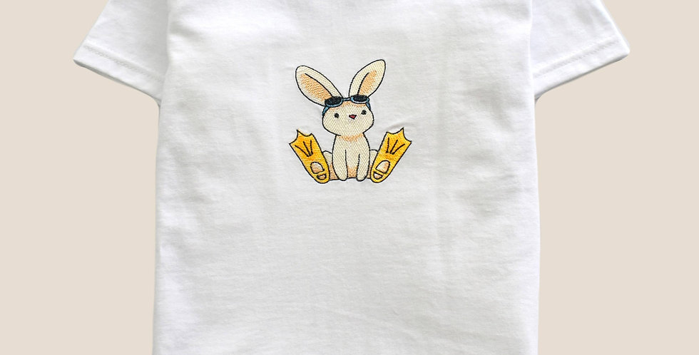 Beach Bunny Embroidered T-shirt for Toddler