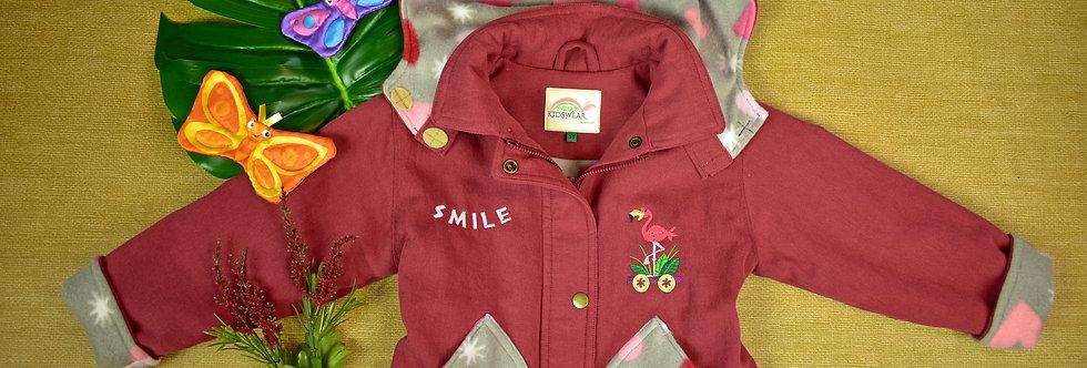 Flamingo Embroidered Denim Jacket