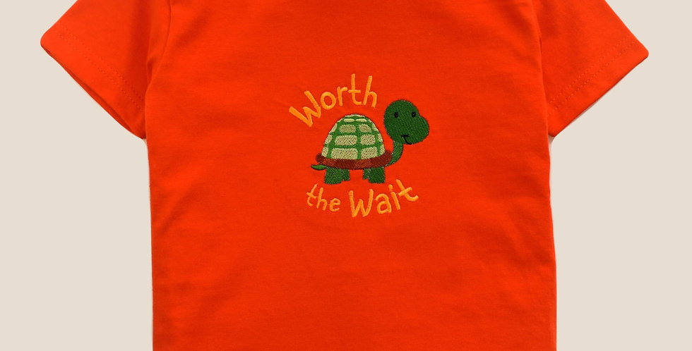 Cute Turtle Embroidered T-shirt for Toddler