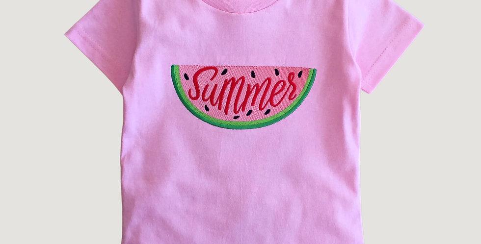 Sveta's Kidswear Watermelon Embroidered T-Shirt.